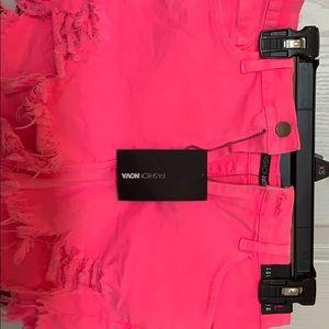 Light washed pink denim